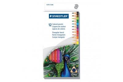 Crayon de couleur triangulaire Staedtler en paquet 12