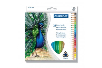 Crayon de couleur triangulaire Staedtler en paquet 24