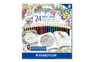 Crayon de couleur Staedtler pour livre à colorier en paquet 24