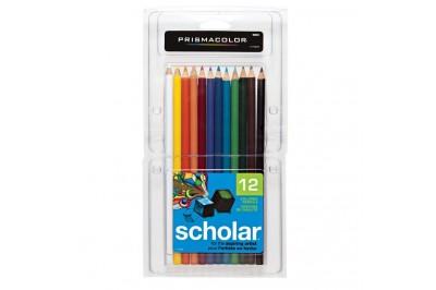 Crayon de couleur Prismacolor Scholar en paquet 12