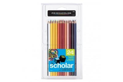 Crayon de couleur Prismacolor Scholar en paquet 24