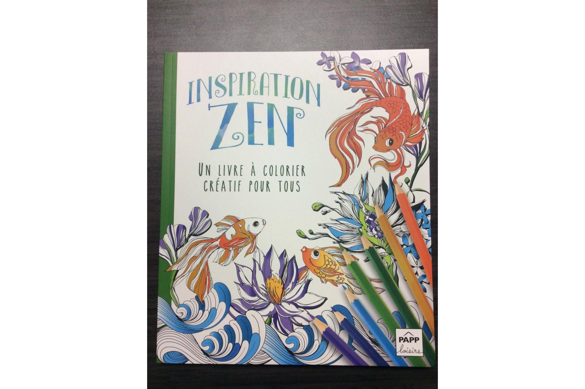 livre colorier anti stress inspiration zen - Livre De Coloriage Anti Stress