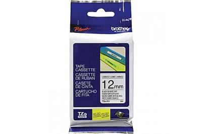Ruban pour étiqueteuse (PT-H100) TZE-231 : Noir sur blanc