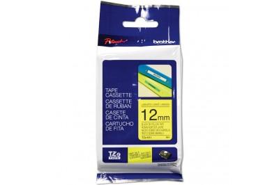 Ruban pour étiqueteuse (PT-H100) TZE-631 : Noir sur jaune